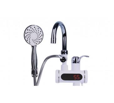 Digitális átfolyós vízmelegítő csaptelep és zuhanyzóval