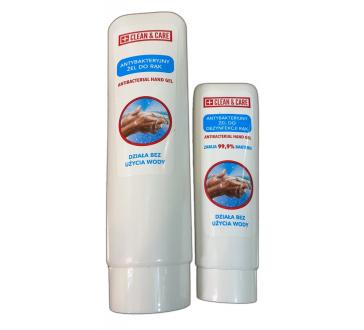 Antibakteriális fertőtlenítő kézgél CLEAN&CARE, 50 ml vagy 125 ml